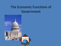 The Economic Functions of Government