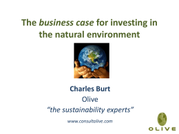 The business case for investing in the natural