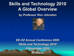 Skills and Technology 2010 A Global Overview