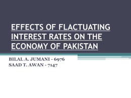 effects of flactuating interest rates on the