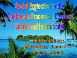 Social Protection in the Caribbean