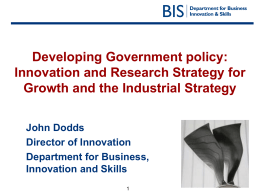 Innovation and Research Strategy for Growth