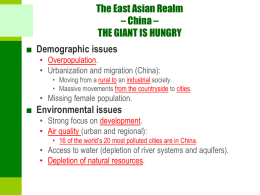 Chapter 9 – East Asia