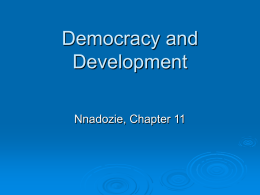 Nnadozie Chapter 11 Democracy and Development