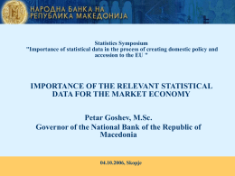 Importance of statistical data