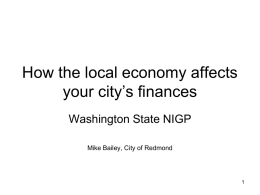 How the local economy affects your city`s finances