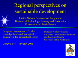 7. Regional Perspectives on Sustainable Development