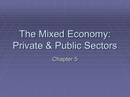 The Mixed Economy: Private & Public Sectors