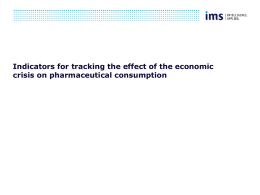 Indicators for tracking the effect of the economic crisis on