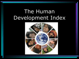 The Human Development Index