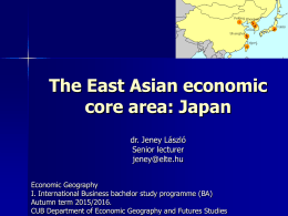 The East Asian economic Miracle
