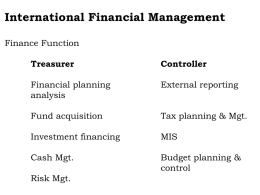 Financial Management in Global context