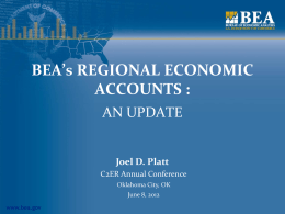 Platt - BEAs Regional Economic Accounts: An Update