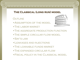 The Classical (long run) model