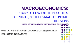Economic Indicators PowerPoint