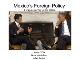 Mexico`s Foreign Policy