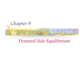Equilibrium and the Multiplier