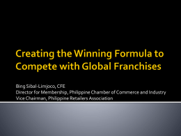 The best Philippine franchises in terms of gross revenues