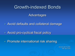 Growth Indexed Bonds