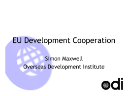 EU development cooperation - Overseas Development Institute