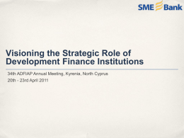 Visioning the Strategic Role of Development Finance Institutions