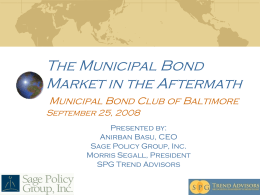 August 2008 - the Municipal Bond Club of Baltimore