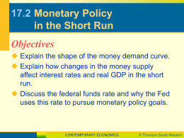17.2 Monetary Policy in the Short Run