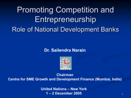 Promoting Competition and Entrepreneurship