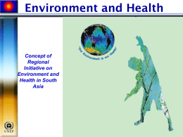Concept Paper on Environment and Health (RSC 3/4/1