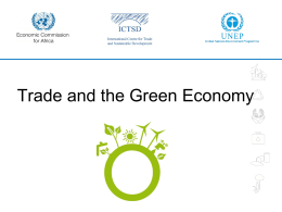 Presentation on Green Economy Background paper for GC