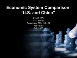 Economic System Comparison - Moraine Park Technical College