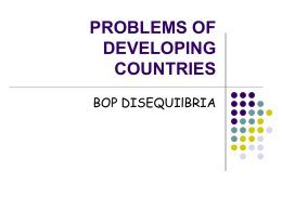 PROBLEMS OF DEVELOPING COUNTRIES