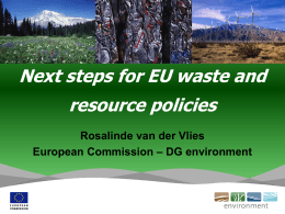 Next steps for EU waste and resource policies Rosalinde