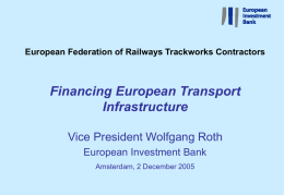 Presentation - Private Partnerships and Rail 2005