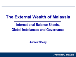 The External Wealth of Malaysia