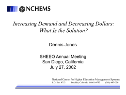 Increasing Demand and Decreasing Dollars – What is the solution?
