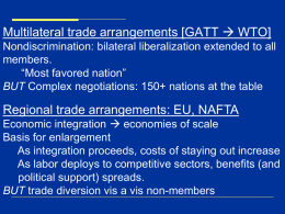 Regional Trade Agreements