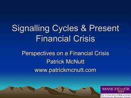 Signalling Cycles & Present Financial Crisis
