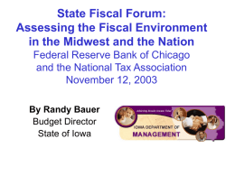 State Fiscal Forum - NIACC Staff Intranet