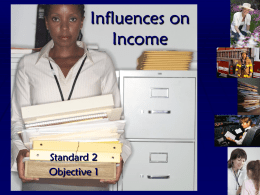 Influences on Income PPT - Finance in the Classroom
