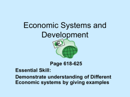 Economic Systems and Development