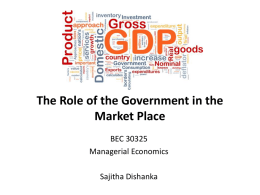 The Role of Government in the Market