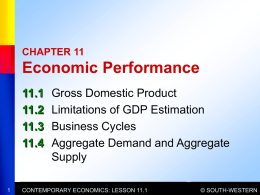 Chapter 11 Economic Performance