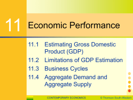 11.1 Estimating Gross Domestic Product