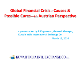 Global Crisis – Causes & Prescription