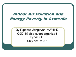 Indoor Air Pollution and Energy Poverty in Armenia
