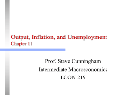 Chapter 11: Phillips Curve