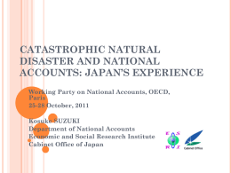 Catastrophic Natural Disaster and National Accounts: Japanese