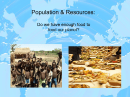 Population & Resources
