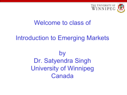 Introduction to Emerging Markets